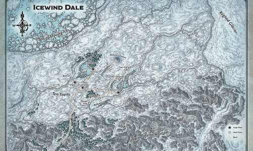Icewind Dale: Rime of the Frostmaiden Map