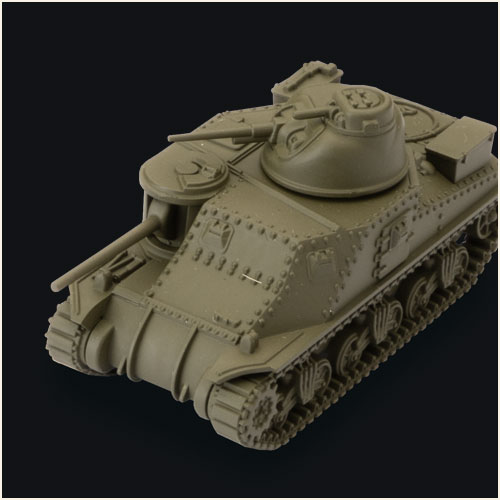 Detailed plastic miniature of M3 Lee Tank for playing World of Tanks