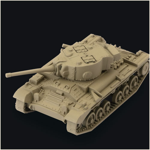 Detailed plastic miniature of Valentine Tank for playing World of Tanks